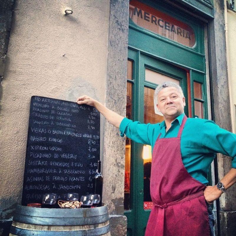 Créditos: Arquivo Pessoal/Divulgação. Chef André Magalhães, da Taberna da Rua das Flores, em Lisboa.