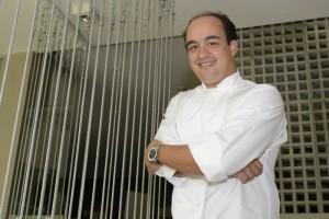 17/02/2015. Crédito: Ed Alves/CB/D.A Press. Brasil. Brasília - DF. O Chef Marcelo Petrarca, dono do restaurante Bloco C na 211 sul.