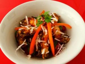 Créditos: Arquivo Pessoal/Ramon Souza. Prato do restaurante O Gaia - Arroz frito com camarão.