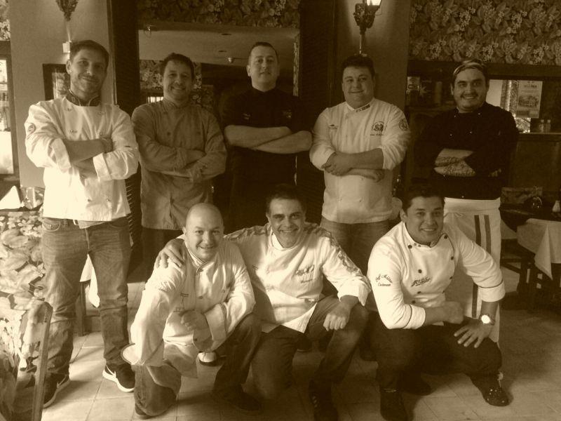 Créditos: Círculo Amici di Italia/Divulgação. Chefs que participam do projeto Círculo Amici di Italia.