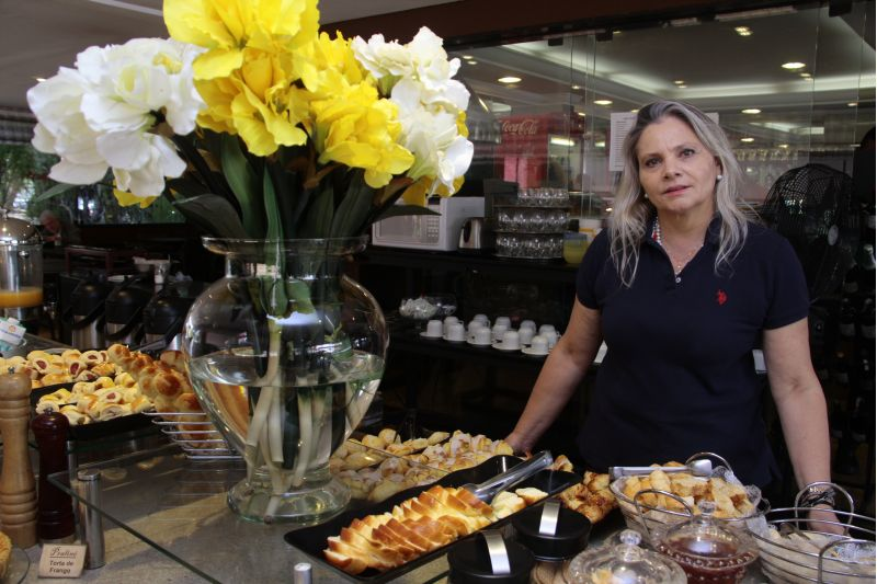 Marion Straub, sócia da confeitaria Praliné