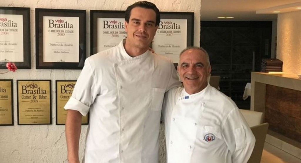 Os chefs Francesco Bruno e Rosario Tessier