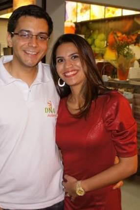 Crédito: Raion Almeida/Divulgação. Thiago Silva e Raissa Sampaio, donos do Restaurante DNA Natural.