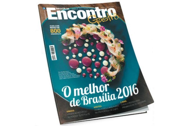 Capa da revista Encontro Gastrô 2016