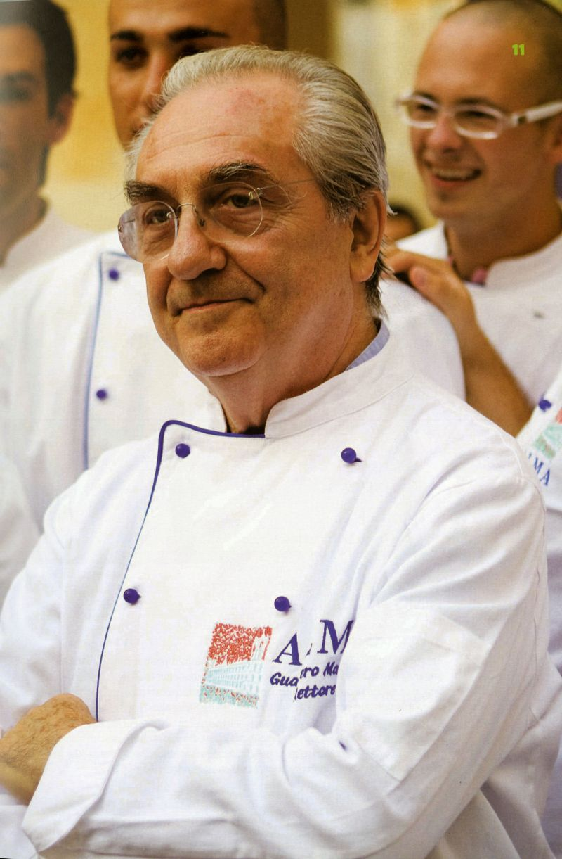 2011. Crédito: Prazeres da mesa/Reprodução. Gualtiero Marchesi, chef italiano.