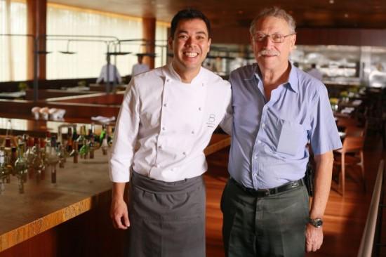 Créditos: Sérgio Alberto/Divulgação. Chefs Rodrigo Sato, do B hotel, e Francisco Ansilero, do Dom Francisco.