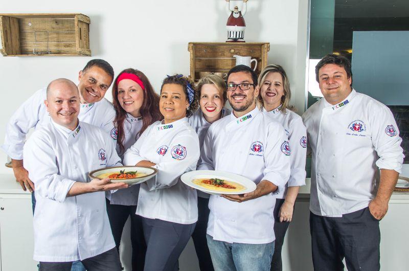Créditos: Rômulo Juracy/Divulgação. Chefs que participam da 1a Festa da Polenta de Brasília.