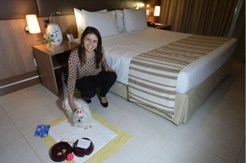 Letícia Markiewicz ficou apaixonada pela ideia de um hotel receber a pequena Valentina: com direito a mimos