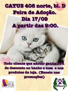 Cartaz da feira de adoção da ATEVI