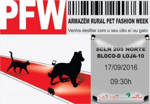 cartaz do evento Pet Fashion Week