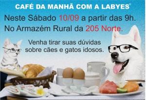 Cartaz do café da mana para você e seu bicho do Armazém Rural.