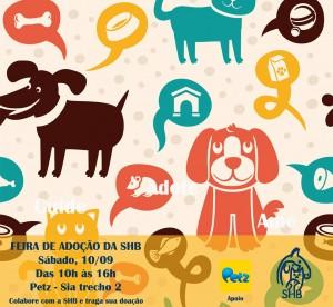 Cartaz de feira de animais para adoção das SHB-Bicho