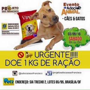 Cartaz da feira de adoção do Projeto São Francisco-Feiras de animais
