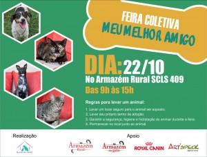 cartaz da feira de adoção de bichos do armazém rural