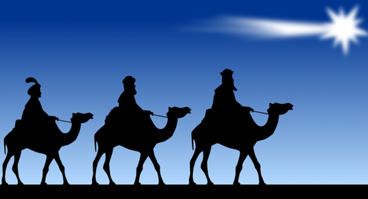Os três reis magos visitaram o Menino Jesus em 6 de janeiro