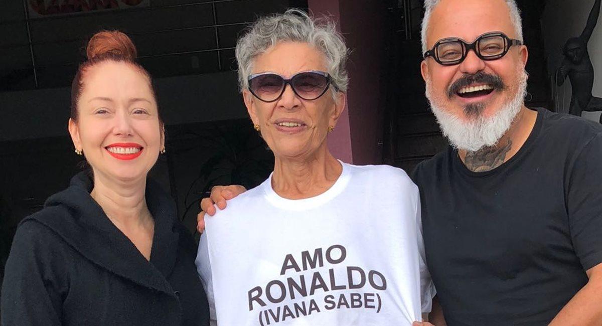 Bom humor é receita para ser feliz: Ivana, Mariza e Ronaldo Fraga