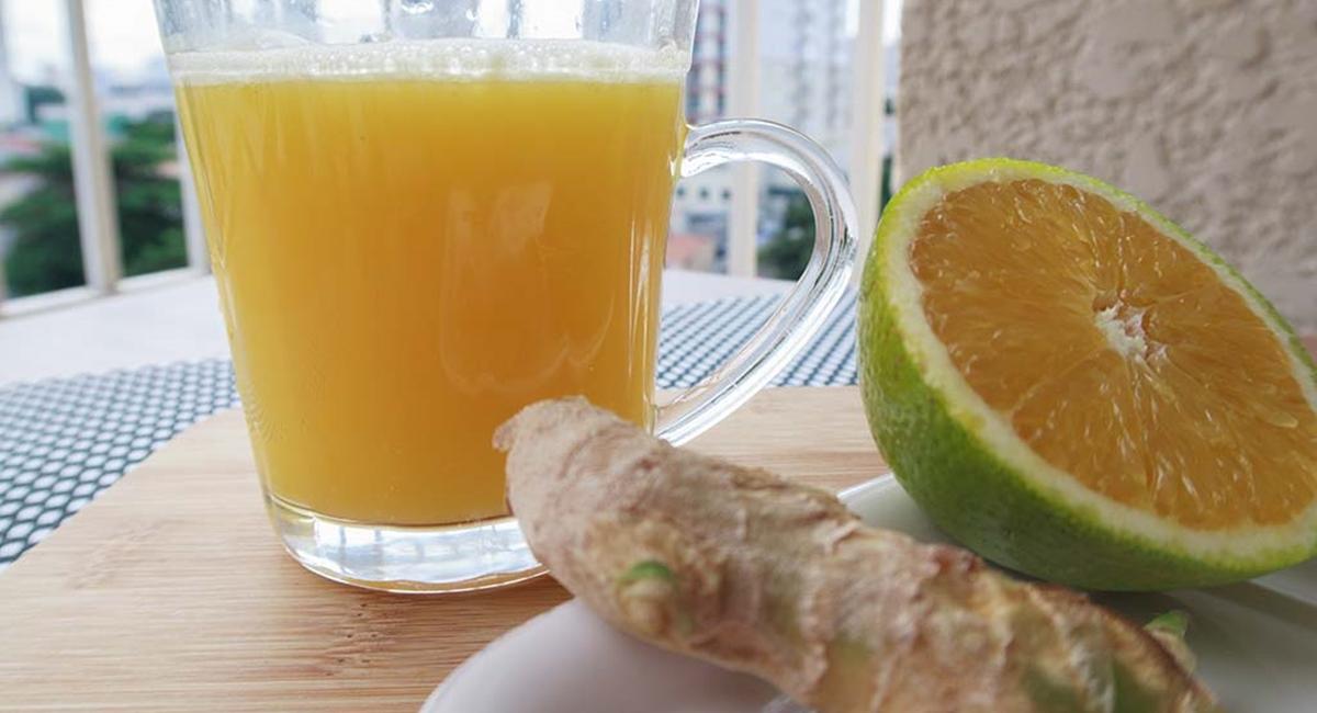 Suco de laranja com gengibre faz bem e é uma delícia