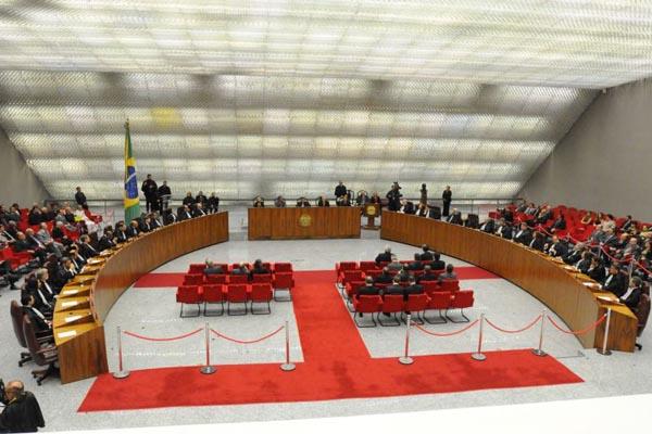 Plenário do STJ (Foto: Carlos Moura/CB/D.A Press)