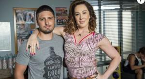Daniel Rocha e Claudia Raia em cena de A lei do amor