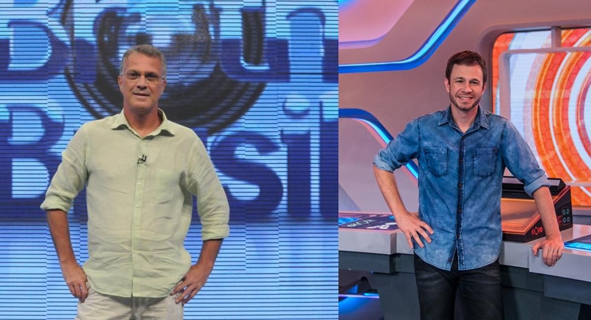 Crédito: Frederico Rozário/TV Globo. Apresentador Pedro Bial no Big Brother Brasil - BBB.