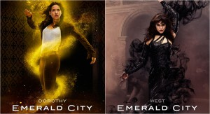 Dorothy e Bruxa do Oeste em Emerald city
