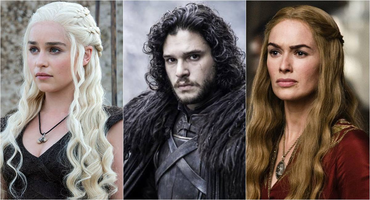Daenerys, Jon Snow e Cersei de Game of thrones
