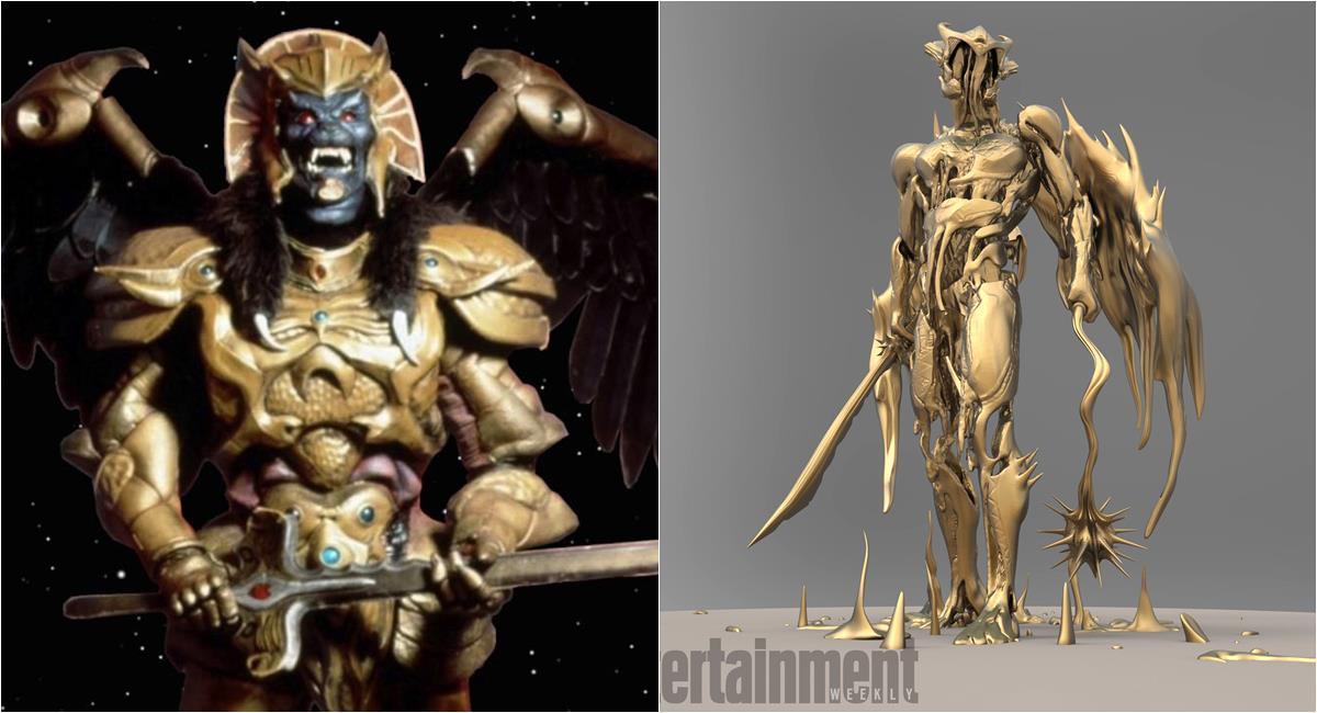 Vilão Goldar na série e no filme de Power Rangers