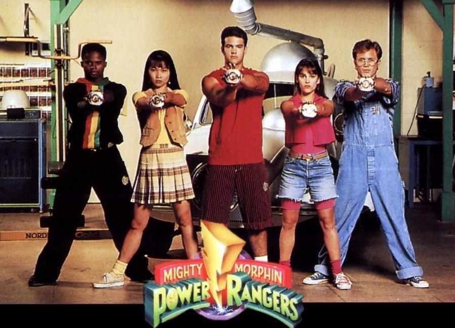 Os morfadores de Mighty Morphin Power Rangers