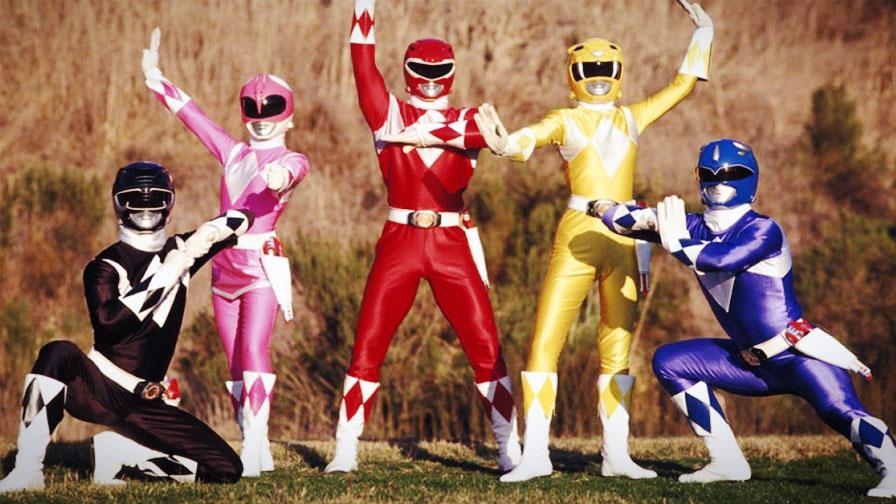 Uniforme dos Power Rangers na série televisiva