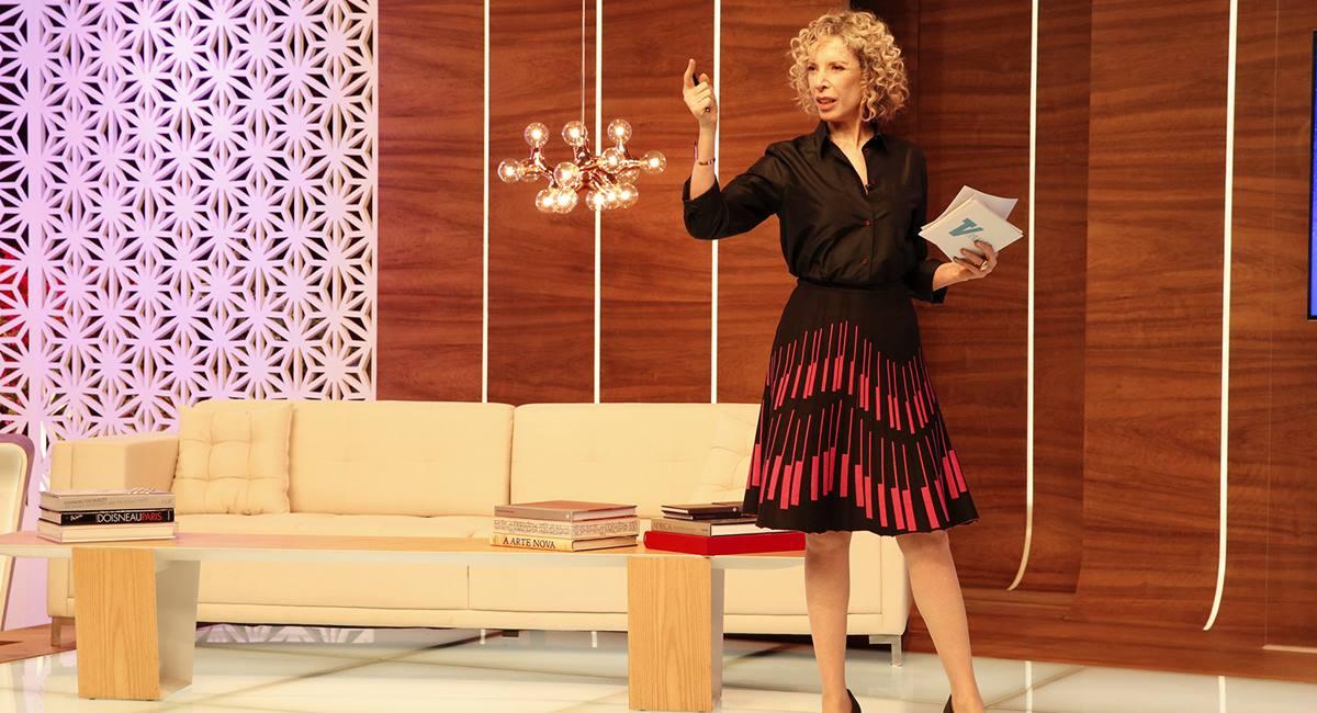 Marília Gabriela no programa TV Mulher