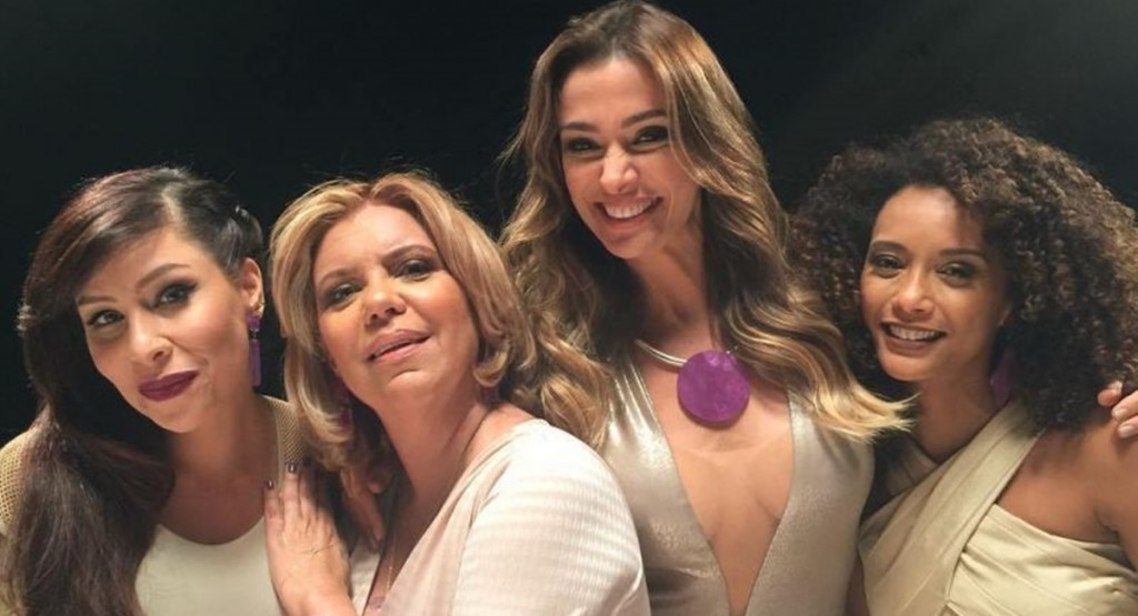 Reprodução/ Internet. Pitty, Astrid Fontenelle, Mônica Martelli e Taís Araújo: atual formação do Saia Justa