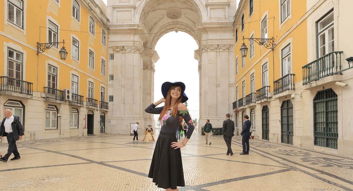Titi Müller em Lisboa em gravação do Anota aí