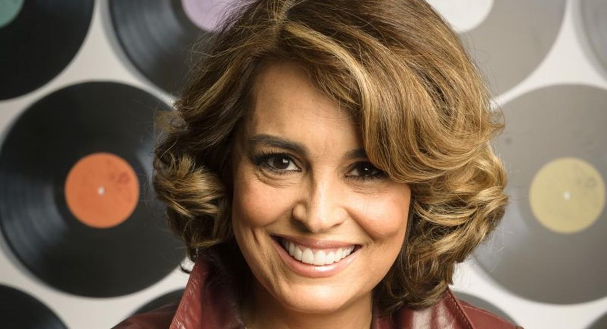 Suzy Rêgo no lançamento da novela Rock story da Globo