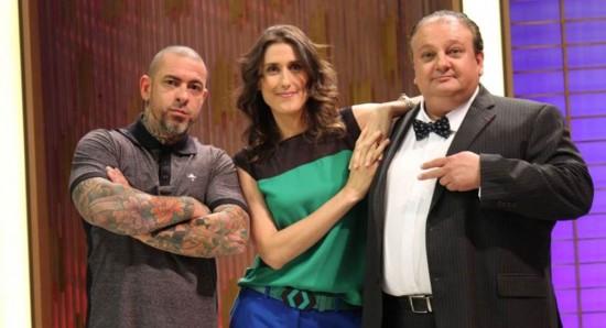 Henrique Fogaça, Paola Carosella e Erick Jacquin são as estrelas do MasterChef Brasil