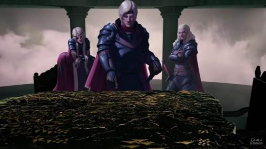 Cena da websérie de Game of thrones