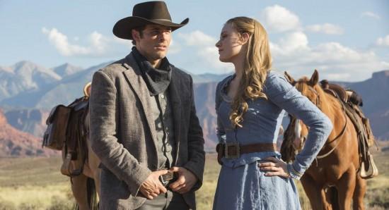 Cena da primeira temporada da série Westworld.