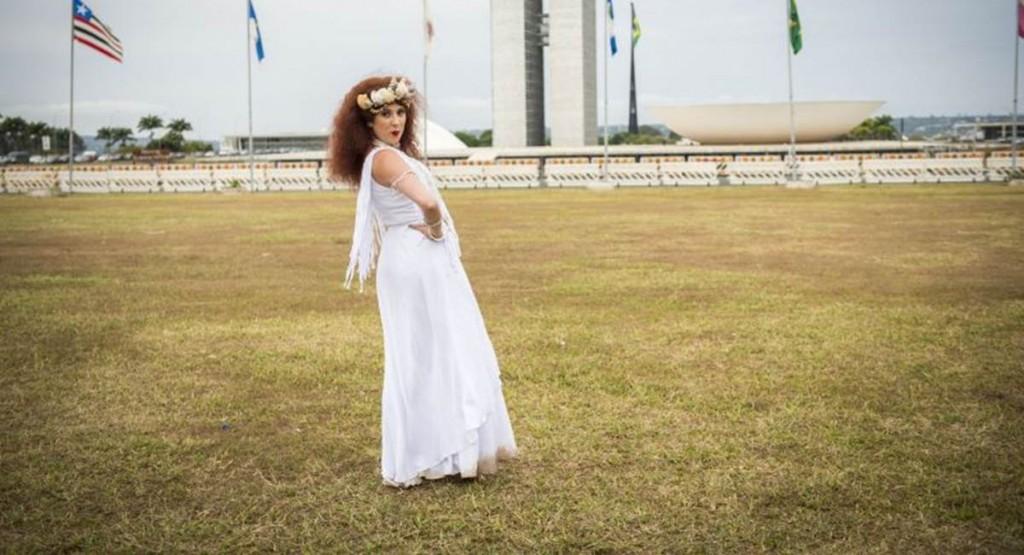 Crédito: João Miguel Jr./TV Globo. Dani Calabresa gravou o Zorra na Esplanada dos Ministérios