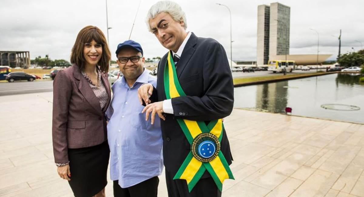 Crédito: João Miguel Jr./TV Globo. Política nacional é tema de piadas no Zorra.
