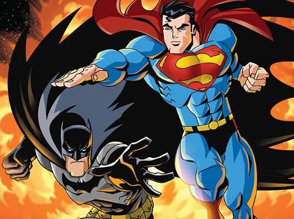 Cena da animação Superman e Batman: Inimigos públicos