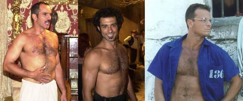 Humberto Martins, Marcos Pasquim e Marcello Novaes viviam sem camisa nas novelas de Carlos Lombardi