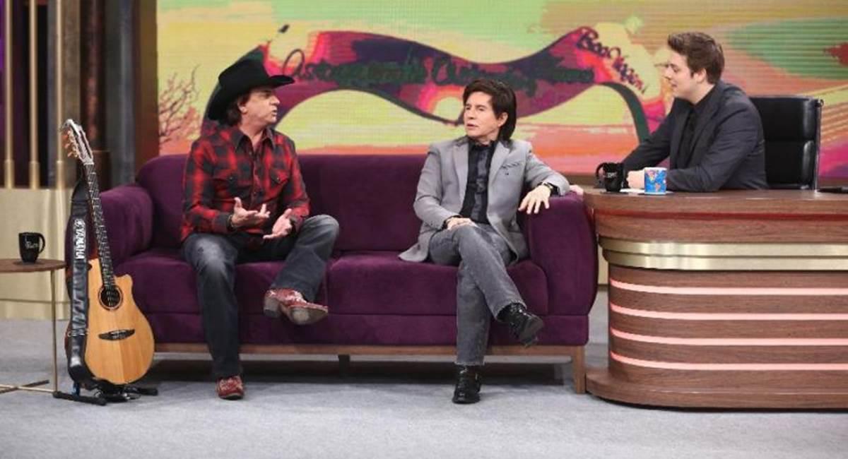 Crédito: Antonio Chahestian/Record TV. Chitaozinho e Xororó falaram sobre o filho de Sandy a Fábio Porchat