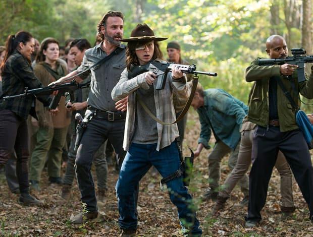 Crédito: AMC/Divulgação. Cena da oitava temporada de The walking dead