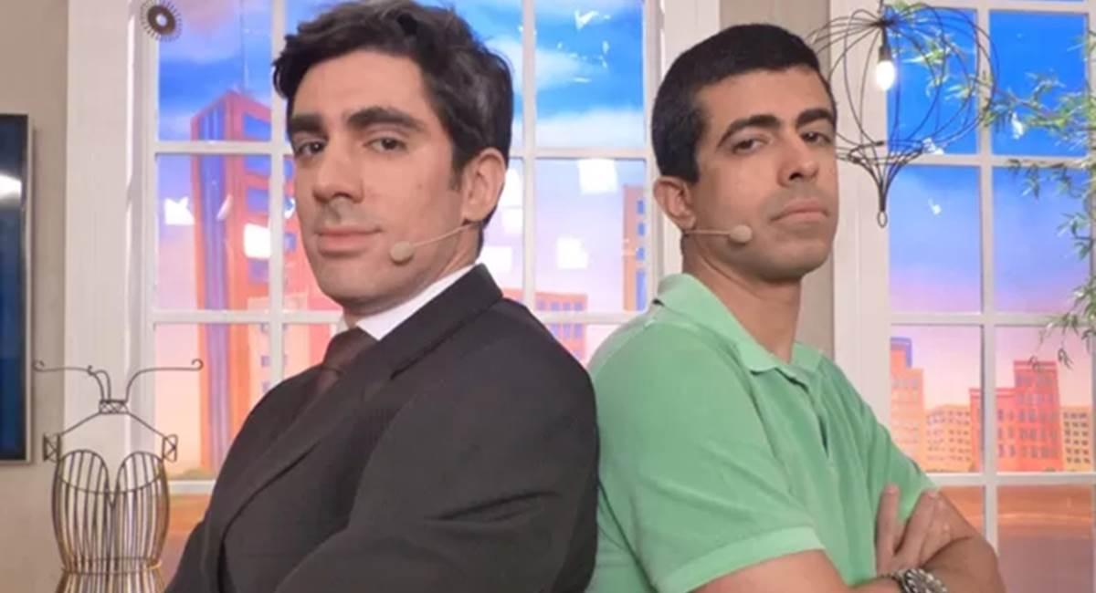 Marcelo Adnet e o Marcius Melhem atuam e escrevem no Tá no ar