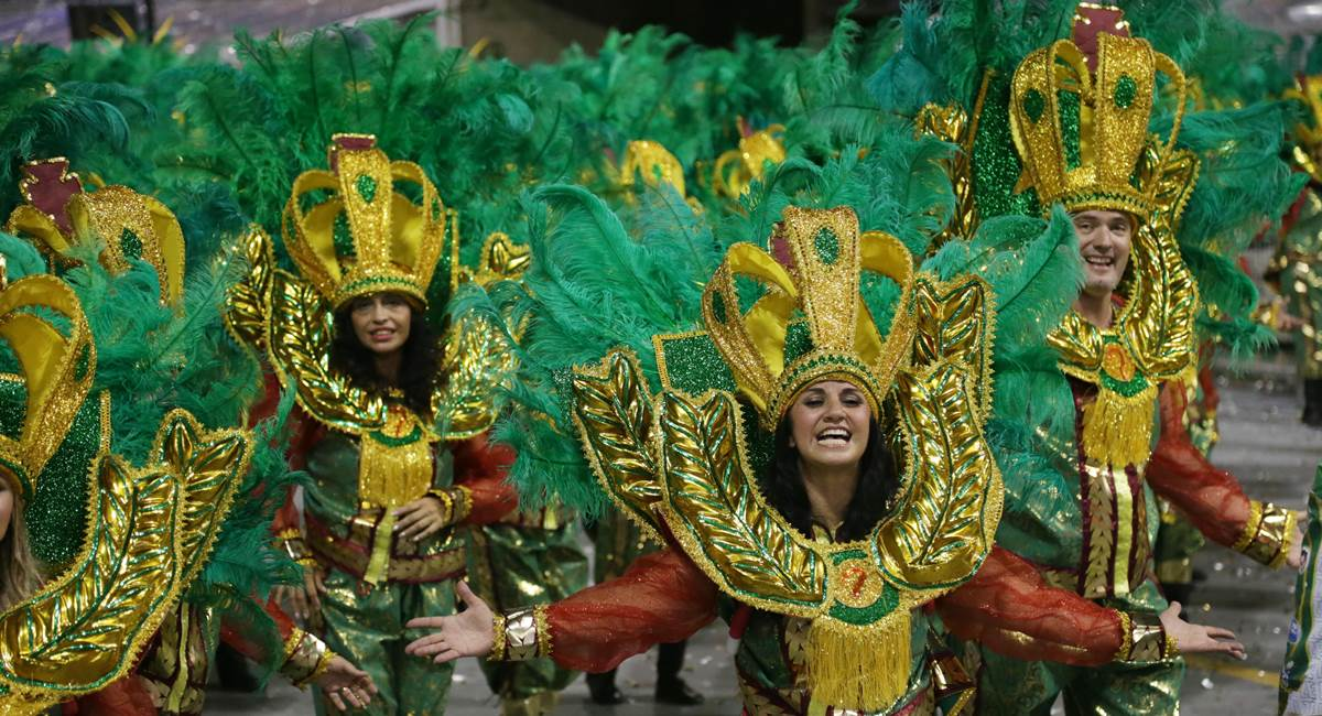 Carnaval 2017. Desfile das escolas de samba de São Paulo. MANCHA VERDE