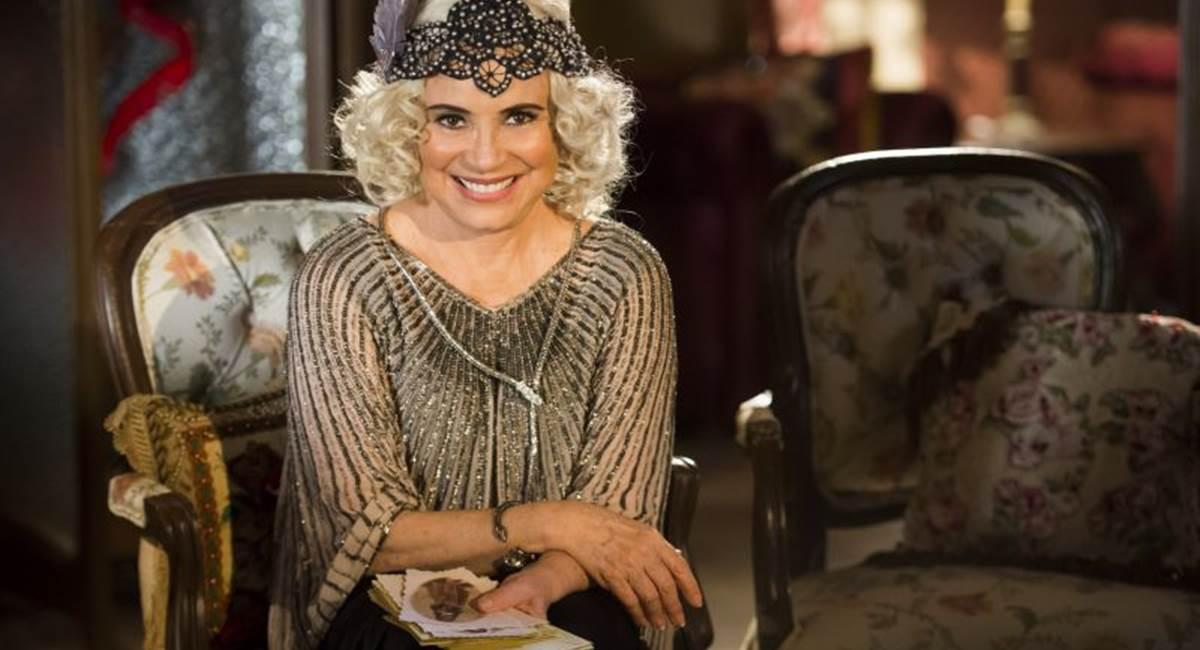 Crédito: Globo/João Miguel Júnior. Regina Duarte como Madame Lucinda na novela Tempo de amar