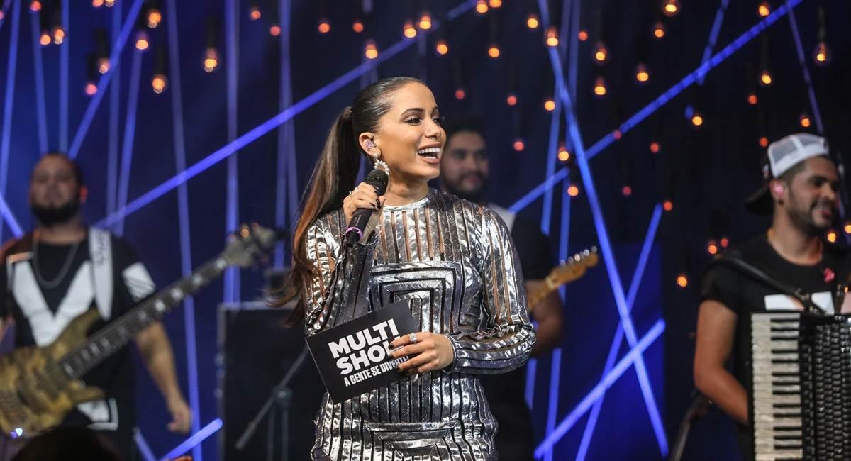 2018. Crédito: Multishow/Divulgação. Anitta no programa Música boa ao vivo.