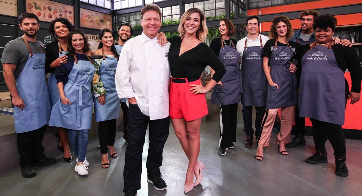 Claude Troisgros, Julia Rabello e as turmas do Que marravilha! Aula de cozinha