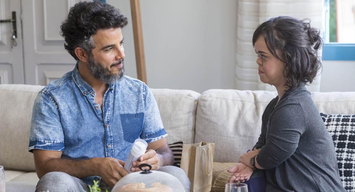 Anderson di Rizzi e Juliana Caldas em cena. Crédito: Globo/Marília Cabral