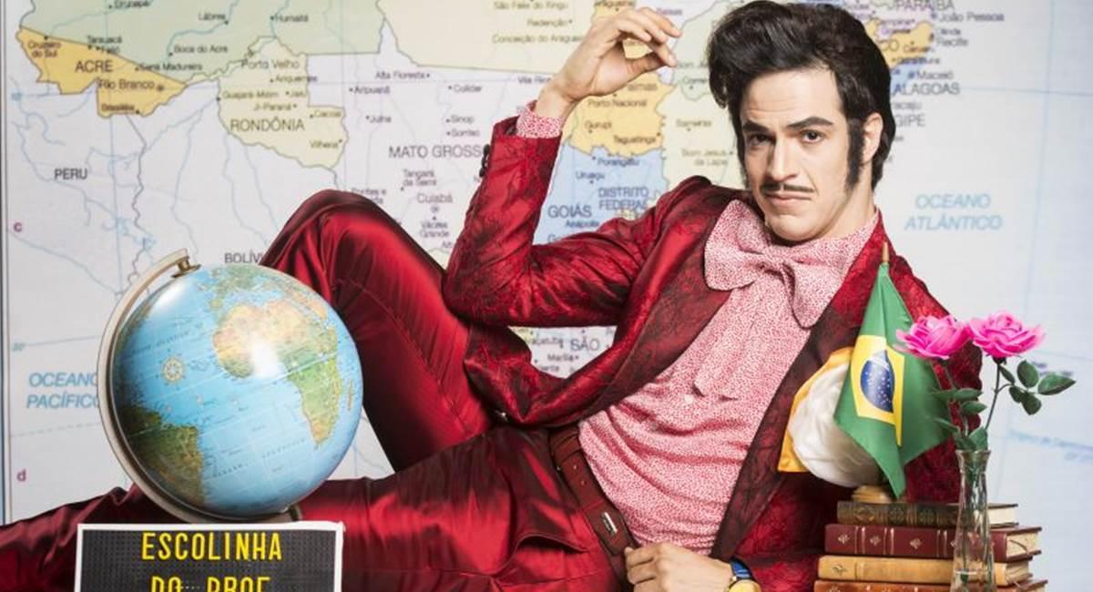 Mateus Solano como Zé Bonitinho na Escolinha do Professor Raimundo