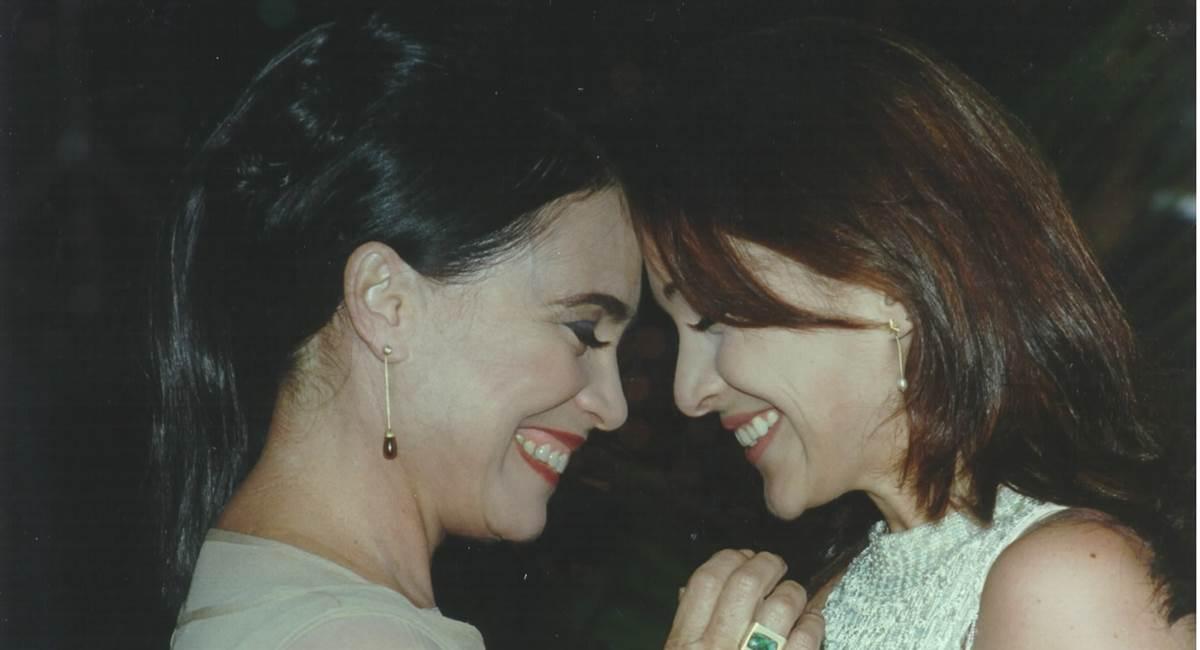 Reprodução/Internet. Cena da abertura da novela Por amor, com Regina Duarte e Gabriela Duarte